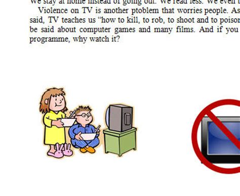 Advantages and disadvantages of tv essay Writing a good